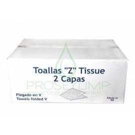 TOALLITAS ZIGZAG TISSUE ECO 200 UNIDADES (Pack de 20 paquetes)