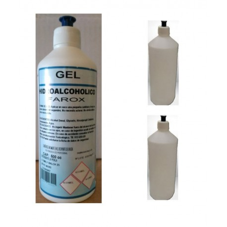 PACK GEL HIDROALCOHOLICO  1 LITRO + 2 BOTES 250 ML